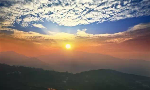 中国最美天空山水图片