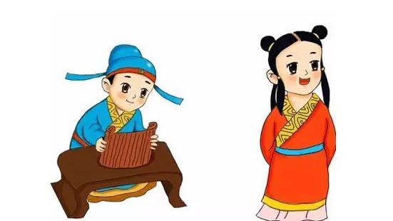 国学人物礼仪卡通素材