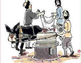 【春节】习俗:腊月二十五 推磨做豆腐