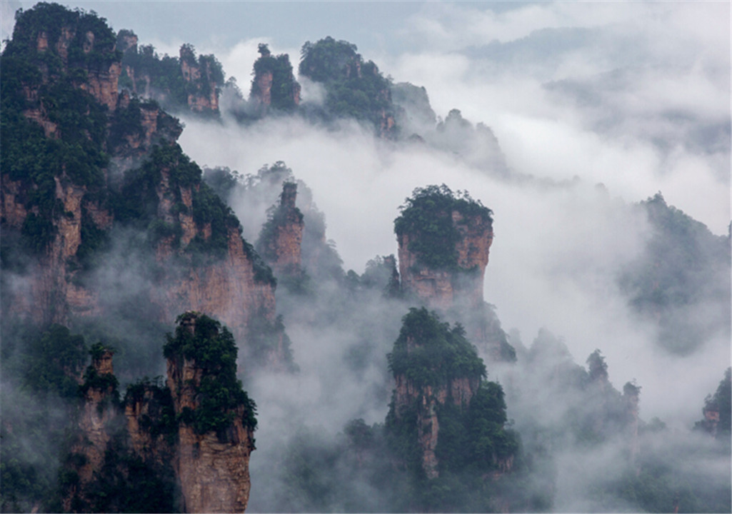 张家界之大观台云海