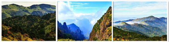 鸟瞰神农架景色 山峦叠翠风光旖旎