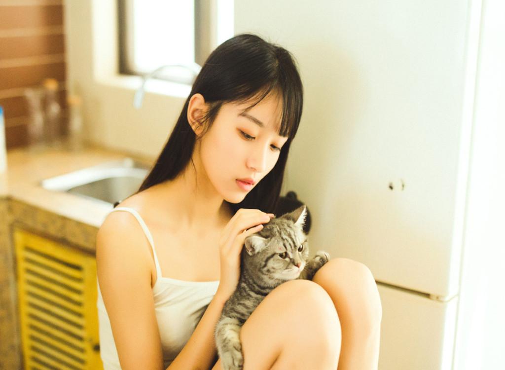 少女与猫 治愈你的心灵