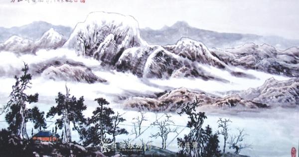 《方山晴雪图》再现古均州奇景