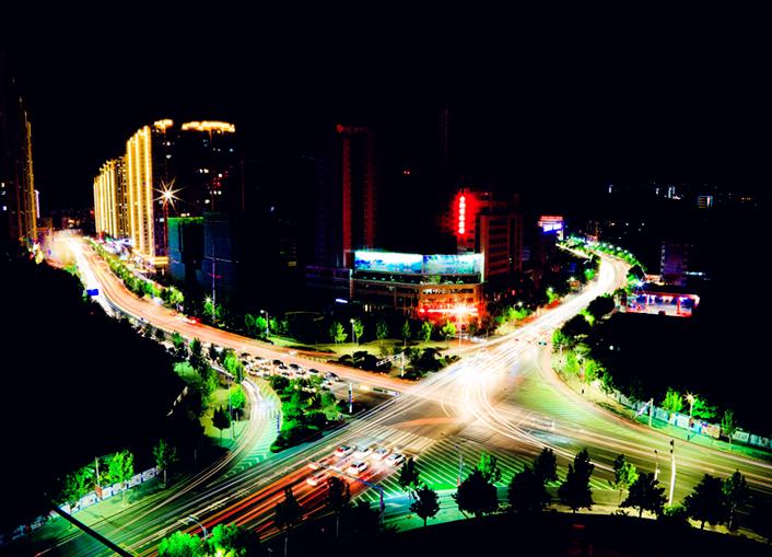 十堰重庆路夜景
