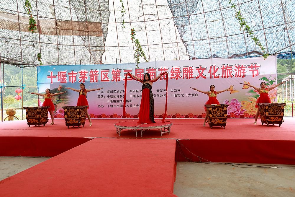 茅箭区第三届菊花绿雕文化旅游节开幕
