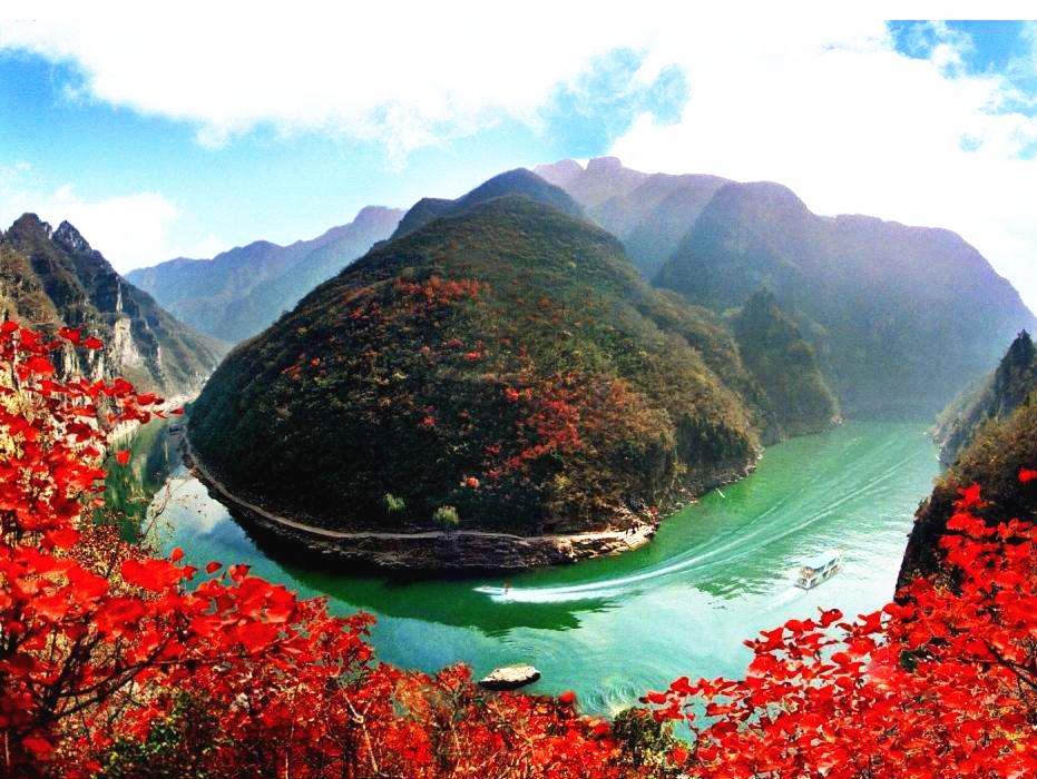 丹江太极峡金秋红叶等你来