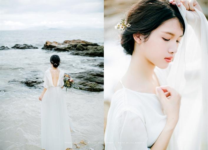 浸润在海水里的裙裾