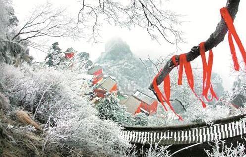 【资讯】十堰迎来今冬第一场雪  武当山雪景美如画
