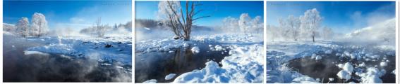不冻河·雾凇