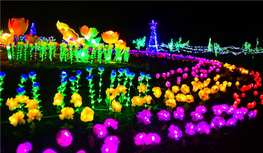 在十堰,有一个地方已经开启了赏花灯模式