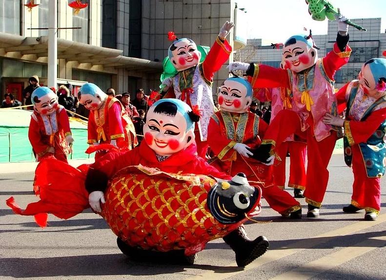 竹溪县春节民俗大巡游活动