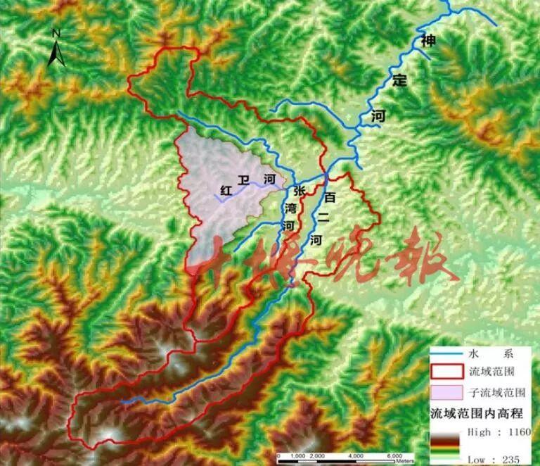 神定河水系图