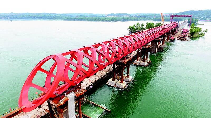 【资讯】丹江口市沧浪洲生态湿地步行桥即将贯通