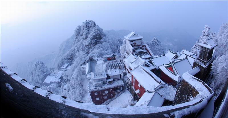 入冬的武当山美出新高度!