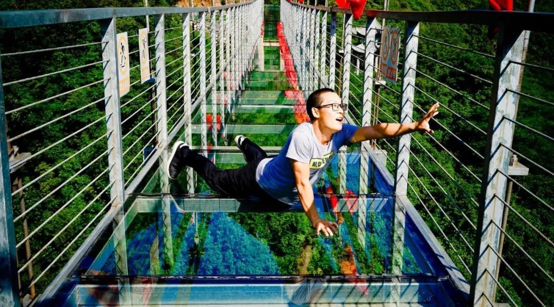 【资讯】吓到腿软,十堰这个景区新建的玻璃桥好刺激!