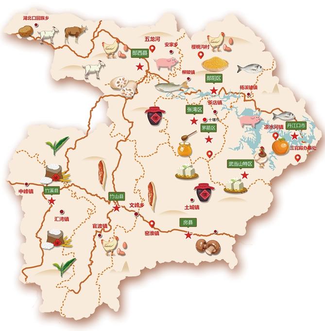 【资讯】请收好第五届十堰乡村旅游年货节打年货地图!